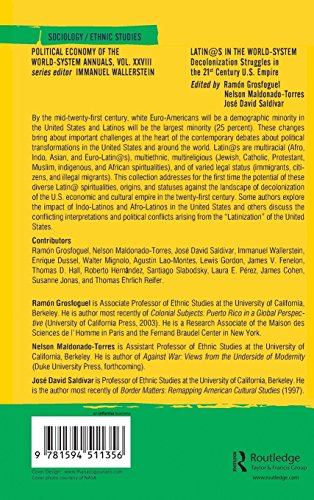 Latino/as in the World-system: Decolonization Struggles in the 21st Century U.S. Empire (Political Economy of the World-System Annuals)