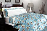Pinzon 160-Gram Printed Flannel Full/Queen Duvet Cover, Chocolate Floral
