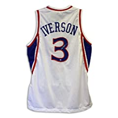 Allen Iverson Philadelphia 76ers Autographed Hand Signed White Throwback Jersey