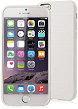 [Apple New iPhone 6 (4.7) Case] iXCC ® MX Pilot Series [Classy Fashion] Premium TPU Slim Fit Case, [Anti-Slip, Anti-Fall, Anti-Shock] Non Slip Rubber Bumper Protective Case, Shock Resistant, Back Cover with Screen Protector for iPhone 6 (4.7-inch) - Verizon, AT&T, Sprint, T-Mobile, International, and Unlocked [White]