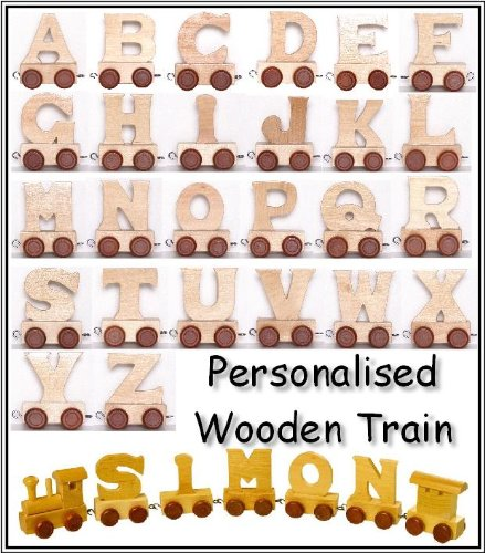 Children's Personalised Wooden Letters Train Set - please read the details below.