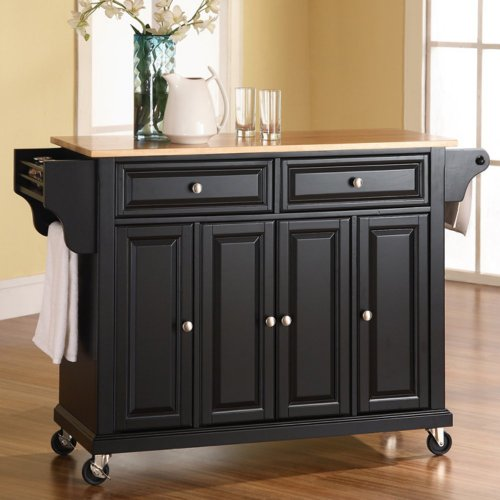 Crosley Furniture Natural Wood Top Kitchen Cart/Island from Crosley Furniture - DROPSHIP