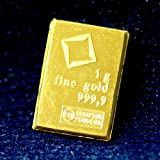 1 Gram Gold Bar Valcambi CombiBar Switzerland 100% Genuine 999.9 Pure Gold