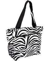 World Traveler Zebra Print Travel Tote Bag