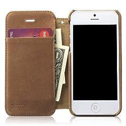 zenus iPhone5ケース Prestige Vintage Leather Diary  ヴィンテージブラウン ダイアリータイプ ストラップ付 本革 Z1399i5