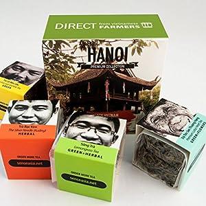 TEA from FARMERS, 4 Loose leaf teas gift set, Hanoi, North Vietnam