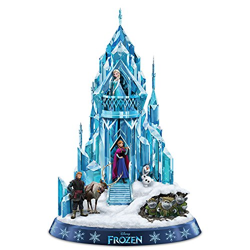 Disney FROZEN Ice Palace of Elsa Sculpture Lights Up and Plays Let It Go by The Hamilton Collection