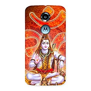Gorgeous Shiv Omkara Multicolor Back Case Cover for Moto X 2nd Gen