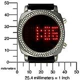 TKO ORLOGI Women's TK572-BK Crystalized Milano Digital Black Rubber Strap Watch