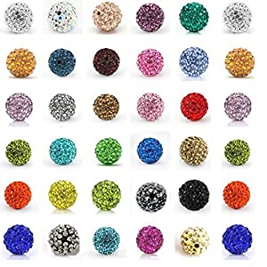 8MM Disco Balls Clay Beads Czech Crystal Shamballa Pave Premium Quality DIY By eArt