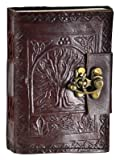Tree of Life Leather Blank Journal with Lock