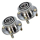 2x Wheel Hub + Wheel Bearing Rear Axle suitable for both sides left lh + right rh MAZDA 323 C F S P MK 4 IV BG 5 V BA 6 VI BJ 1.3 1.4 1.5 1.6 1.7 1.8 1.9 2.0; MX-3 1.6 1.8 01.93-02.98;