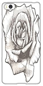 Snoogg Hand Drawn Rose Vector Illustration Solid Snap On - Back Cover All Aro...