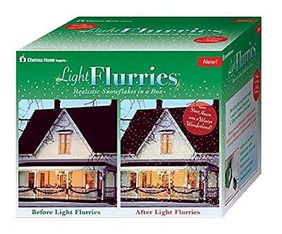 Light Flurries LED WeatherProof Falling Snowflakes Light Projector
