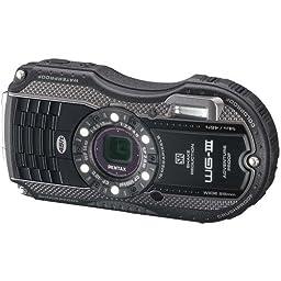 Pentax Optio WG-3 black 16MP Waterproof Digital Camera with 3-Inch LCD Screen (Black)