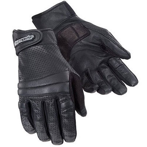 Tour Master Summer Elite 2 Men's Leather Sports Bike Motorcycle Gloves - Black / 2X-Large
