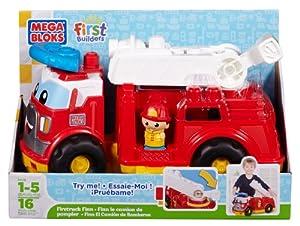 Mega Bloks First Builders Fire Truck Finn