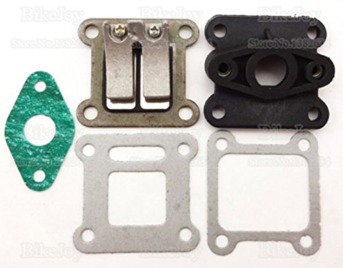 Reed Valve + Inlet Intake Manifold + Gaskets for 47cc 49cc Mini Moto Dirt Pocket Bike ATV Quad Minimoto Go Kart Scooter