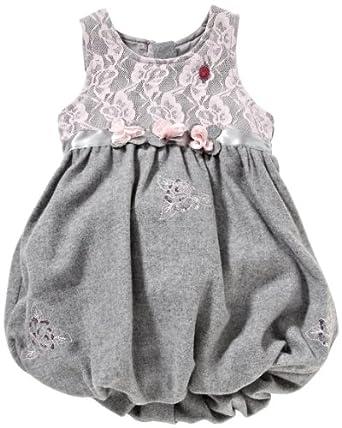 Pampolina Mädchen Kleid (mini) 6294368, Gr. 110, Grau (8800)