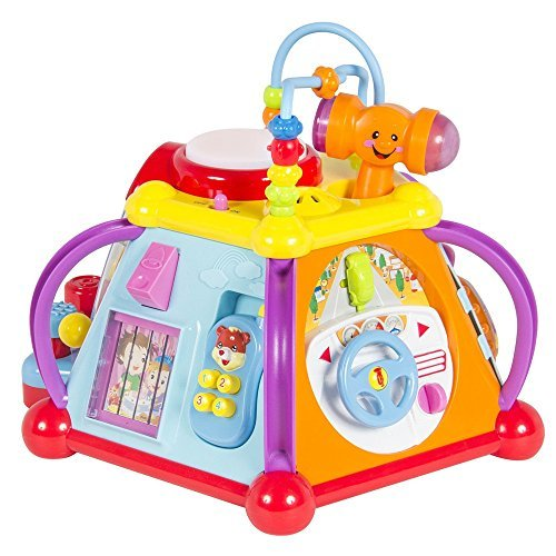 Baby Toy Musical Activity Cube Play Center with Lights,15 Functions Skills Kids (Fire Truck Walker compare prices)