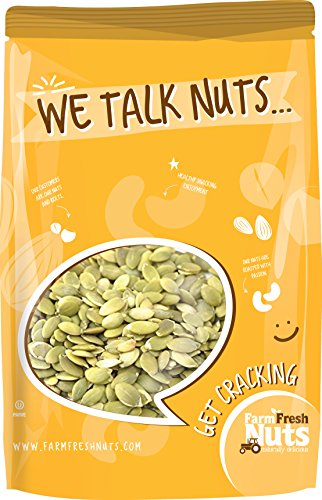 PEPITAS / PUMPKIN SEEDS - Himalayan Salt - Dry Roasted to perfection - Resealable Bag - Naturally Delicious - Healthy - Contain health-supportive Phytosterols, including Beta-Sitosterol, and Avenastero (1 LB)
