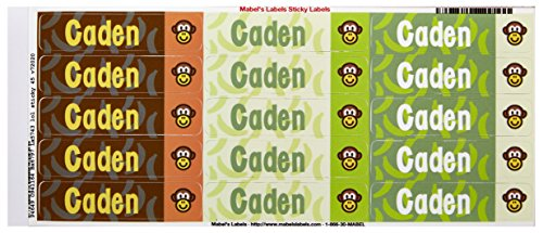 Mabel'S Labels 40845017 Peel And Stick Personalized Labels With The Name Caden And Monkey Icon, 45-Count front-837437