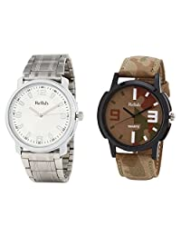 Relish Analog Round Casual Wear Watches For Men Combo - B01ANCD4XE