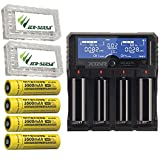 Combo: Xtar DRAGON VP4 Plus -4 Port Charger w/4x NL1835 Batteries +2x Free Eco-Sensa Battery Cases