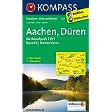 Aachen, Düren, Nationalpark Eifel, Rureifel, Hohes Venn: Wanderkarte mit Kurzführer und Radwegen. GPS-genau. 1...