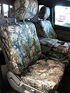 Durafit Seat Covers, F480-MC2-C- Ford F150-F550 XLT and Lariat 40/20/40 Split Seat with Opening Center Console in MC2 Camo Endura