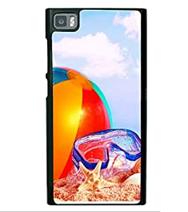 printtech Beach Sunrise Ball Back Case Cover for Xiaomi Redmi Mi3::Xiaomi Mi 3