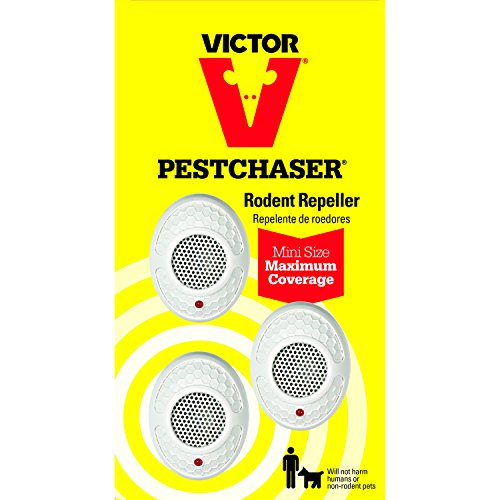 Victor M753 Mini Pestchaser Ultrasonic Rodent Repellent, 3-Pack (Not Available In Hi Or Nm)