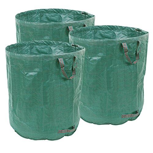 Songmics 3er-Set Sacco per raccolta foglie 140 g/m² 272L GTS272L