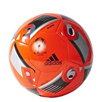 Play past your opponents with this highquality football. The durable machine stitching and soft touch respond to your feet for accurate pass control as you go on attack. Official graphics honour Europe's premier tournament. Machine stitched f...