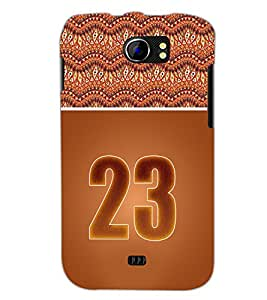 PrintDhaba Numerology Number 23 D-3658 Back Case Cover for MICROMAX A110 CANVAS 2 (Multi-Coloured)