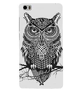 Fuson Premium Grey Owl Printed Hard Plastic Back Case Cover for Xiaomi Mi 5
