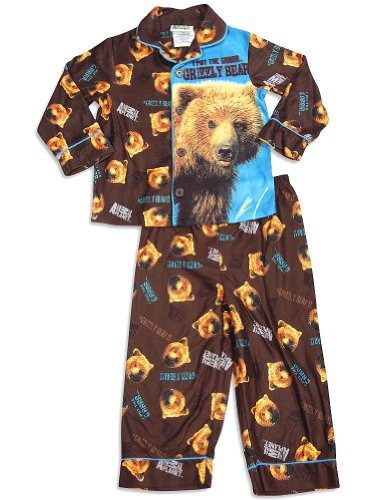 Animal Planet - Little Boys Long Sleeve Pajamas, Brown 29953-4T front-943739