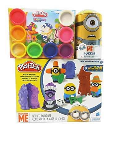 Play-Doh-Makin-Mayhem-Set-Despicable-Me-MinionsPlay-Doh-Rainbow-Starter-Packand-Despicable-Me-Minions-48-piece-Puzzle-in-a-Collectible-Tin