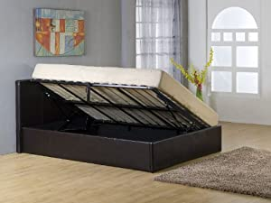 bedsandbeds petit lit double relevable avec coffre de. Black Bedroom Furniture Sets. Home Design Ideas