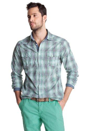Esprit Men's Casual Shirt Washed Mint  XXL