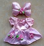 かわいい ミニサイズ !  ぬいぐるみ 人形 着せ替え 衣装 Duffy ダッフィー シェリーメイ 服  (ピンク )