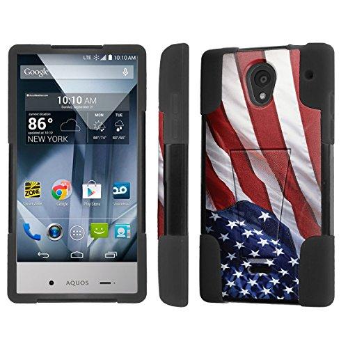 NakedShield Sharp AQUOS Crystal Flag America Pride T Armor Tough Shock Proof KickStand Phone Case (Sharp Aquos Case Armor compare prices)