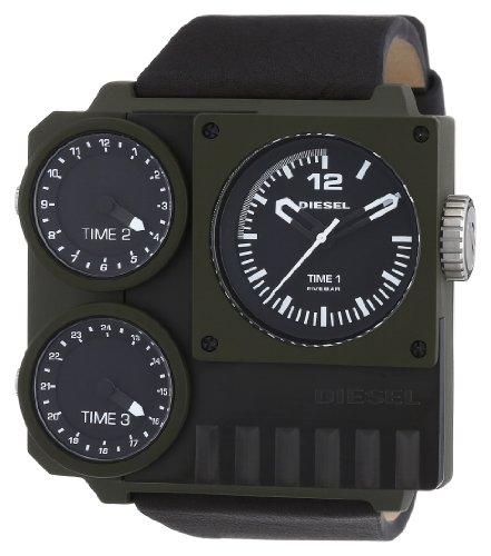 Diesel KickStart Multi Movement DZ7248 - Reloj analógico de cuarzo para hombre, correa de cuero color marrón