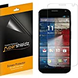 [6-Pack] SUPERSHIELDZ- Anti-Bubble [HD Clear] Screen Protector For Motorola Moto X (1st Gen) + Lifetime Replacements Warranty (AT&T, Verizon, Sprint, T-mobile, All Carriers)[6-PACK] - Retail Packaging