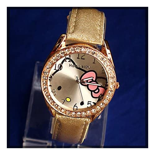 Miss Peggys~ Hello Kitty Quartz Movement Watch and a Bling Hello Kitty Necklace***2 3 Days From Order to Your Door***