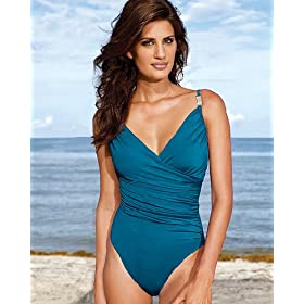 Shape fx Bejeweled surplice maillot |