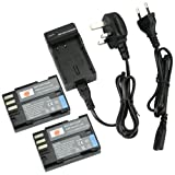 DSTE® 2pcs D-LI90 Rechargeable Li-ion Battery + Charger DC93U for Pentax 645D, K-01, K-3, K-5, K-5 II, K-5 IIs, K-7 Digatal Camera