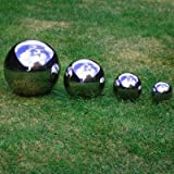 Set of Four Stainless Steel Sphere's 6.5, 9, 13 & 18cm