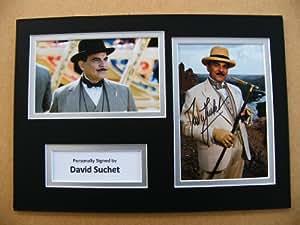 Sportagraphs DAVID SUCHET GENUINE HAND SIGNED AUTOGRAPH A4 PHOTO DISPLAY & COA POIROT GIFT