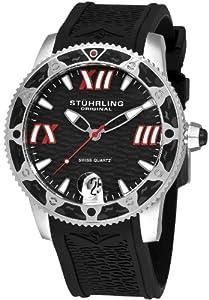 Stuhrling Original Men's 225G.33161 Nautical Regatta Weekender Swiss Quartz Date Black Watch